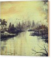 Dreamy Lake Wood Print