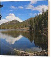 Dreamy Lake In The Rockies Wood Print