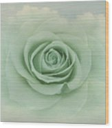 Dreamy Vintage Floating Rose Wood Print