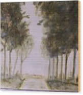 Dreamy Walk Wood Print