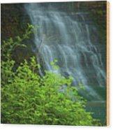 Dreamy Waterfalls Wood Print by Iris Greenwell