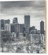Dreary Denver Wood Print