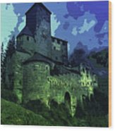 Dreary Fortress Wood Print