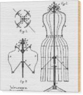 Dress Form Patent 1891  Wood Print