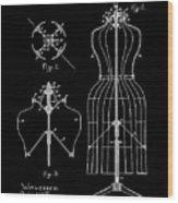 Dress Form Patent 1891 Black Wood Print