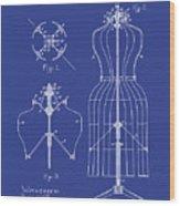 Dress Form Patent 1891 Blue Wood Print