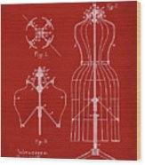 Dress Form Patent 1891 Red Wood Print