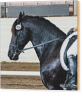 Dressage Horse Show Wood Print