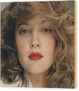Drew Barrymore Wood Print