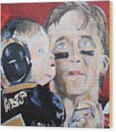 Drew Brees And Son  Wood Print