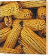 Dried Corn Cobs Wood Print