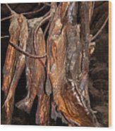 Dried Fish Wood Print