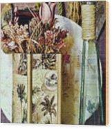Dried Floral Still Wood Print