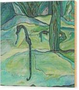 Drifting Seahorse Wood Print