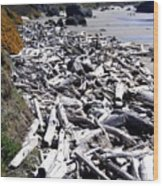 Driftwood By The Ton Wood Print
