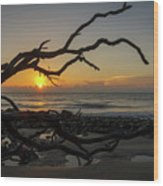 Driftwood Dawn Wood Print