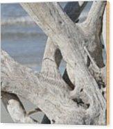 Driftwood Detail Wood Print