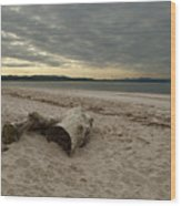 Driftwood On West Sands Wood Print