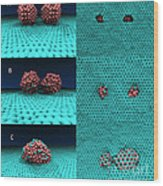 Drilling Of Graphene Nanoparticles Wood Print