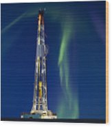 Drilling Rig Saskatchewan Wood Print