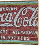 Drink Coca-cola Wood Print