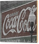Drink Coca Cola Roanoke Virginia Wood Print