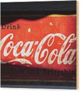 Drink Coke Wood Print