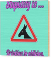 Drinking Bigstock Donkey 171252860 Wood Print