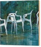 Drip Dry Wood Print by Elizabeth Carr