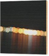 Dripping Light Wood Print