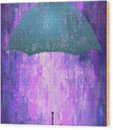 Dripping Poster Purple Rain Wood Print