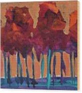 Dripping Tree #1 Wood Print