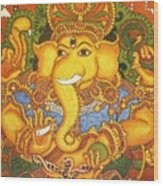 Drishti Ganapathi The Elephant Headed Hindu God Of Good Omens Wood Print