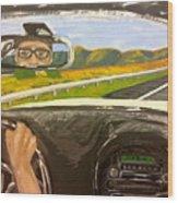 Drive Away Wood Print