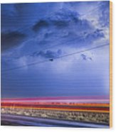 Drive By Lightning Strike Wood Print