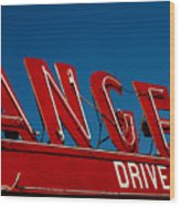 Drive In- California  Wood Print