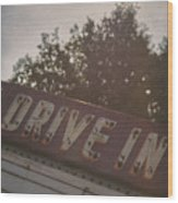 Drive In II Wood Print