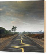 Drive Safely Wood Print by Carlos Caetano
