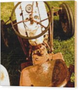 Driver's Seat Wood Print