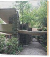Driveway Fallingwater  Wood Print
