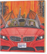 Driving Like Bats Out Of Hell Wood Print