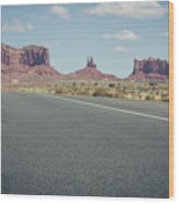 Driving Monument Valley Wood Print