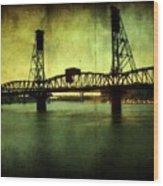 Driving Over The Bridge Wood Print