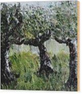 Drizzle Wood Print