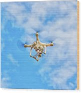 Drone On The Air Wood Print