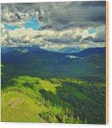 Drone Shot At Walker Valley Wood Print