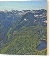 Drone Shot Of Lake Evan Wood Print