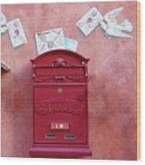 Drop Me A Letter Mr. Postman Wood Print