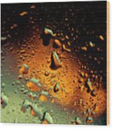 Droplets Ix Wood Print