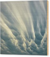 Dropping Clouds Wood Print